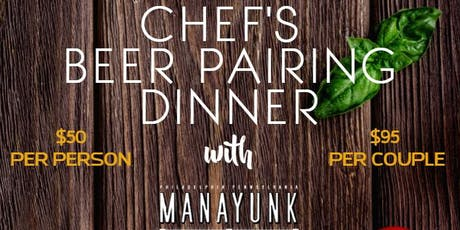 Chef's Beer Pairing Dinner tickets