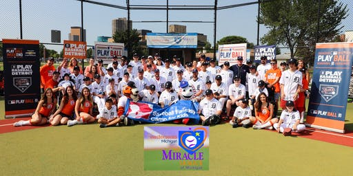 Detroit Tigers Fantasy Camp for Kids 7/20/2019 at Miracle Field, Southfield