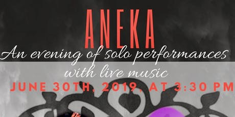 Aneka - An evening of solo performances with live music tickets