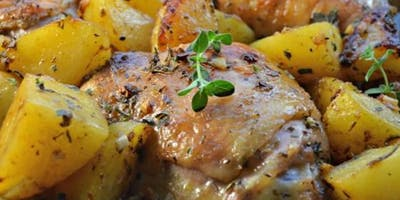 Taste of Greece Cooking Class-Spring Welcome Featuring Roast Lemon Chicken
