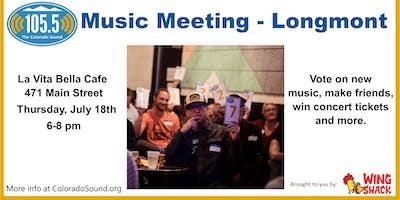 Longmont 105.5 The Colorado Sound Music Meeting at La Vita Bella