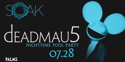 7.28 Deadmau5 SOAK Sunday Nightswim Party @ KAOS Nightclub Las Vegas