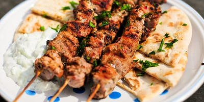 Taste of Greece Cooking Class-Summer Grill Featuring Chicken & Pork Souvlaki
