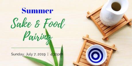 Summer Sake & Food Pairing tickets