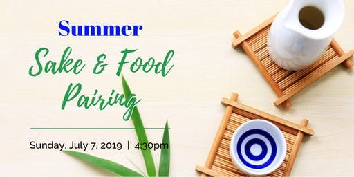 Summer Sake & Food Pairing