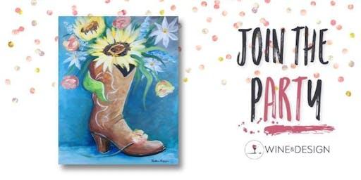 Sip + Paint | Summer Cowboy Boot