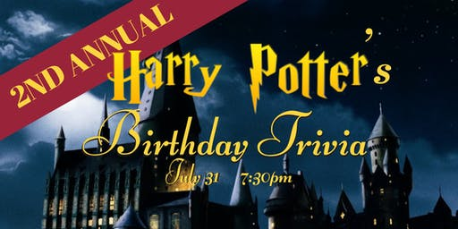 Harry Potter's Birthday Trivia - July 31, 7:30pm - Beercade
