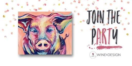 Sip + Paint | Pastel Piggy