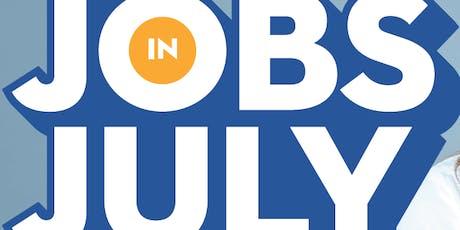 Jobs in July 2019 - Jobseekers tickets