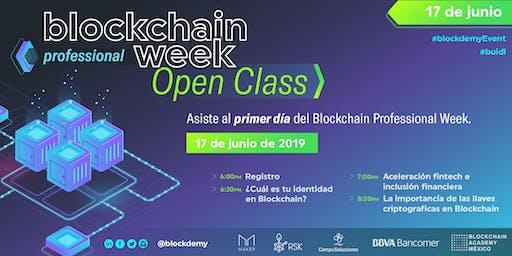 Open Class :: Blockchain Professional Week Junio