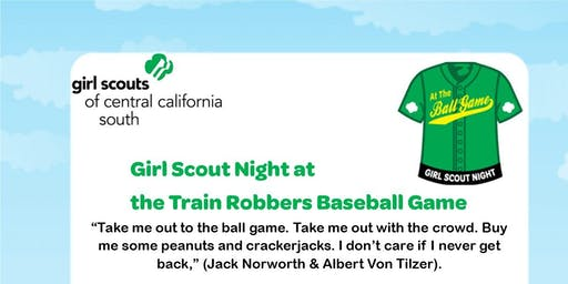 Girl Scout Night at the Train Robbers Baseball Game - Kern