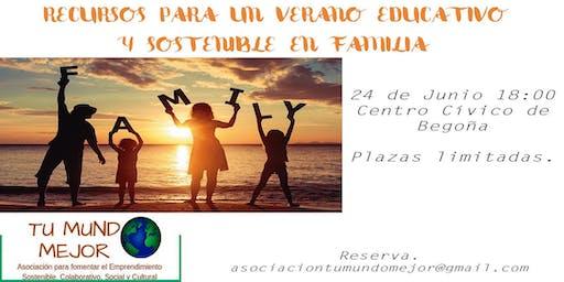 Recursos para un verano educativo y sostenible en familia