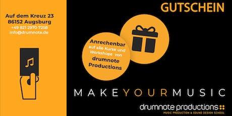 Gutschein | Unterricht in Musikproduktion Tickets
