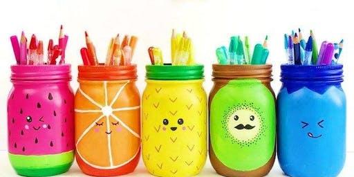 Summer Mason Jars- Paint & Pint Night