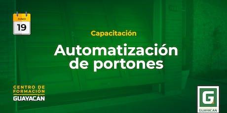 Automatización de portones entradas