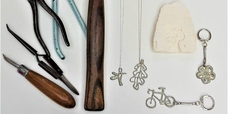 Pewter pendant and keyring making workshop. tickets