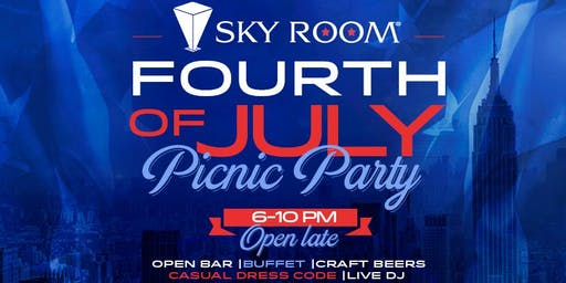 Fourth of July Picnic at Sky Room Rooftop with Open Bar in Times Square NYC