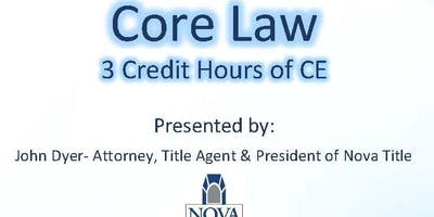 Core Law 3 Hour C.E. Class