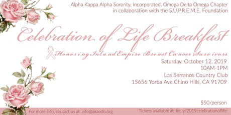 Celebration of Life Breakfast tickets