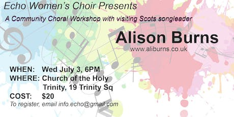 Community Singing Workshop with Scots songleader Ali Burns tickets