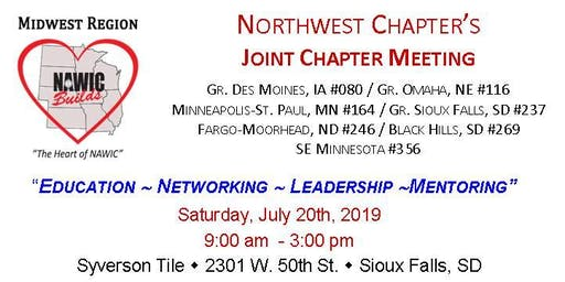NAWIC - MWR Joint Chapter Meeting