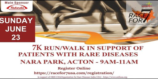 Racefor7 - 7K Run/Walk in support of patients with rare diseases