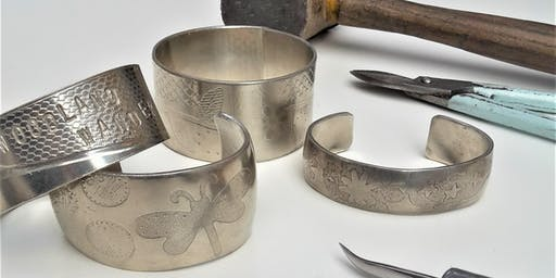 Pewter bangle making workshop