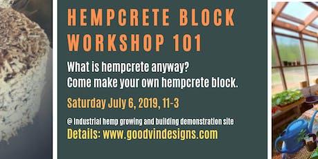 Hempcrete Introduction 101 - Basic Block Workshop tickets