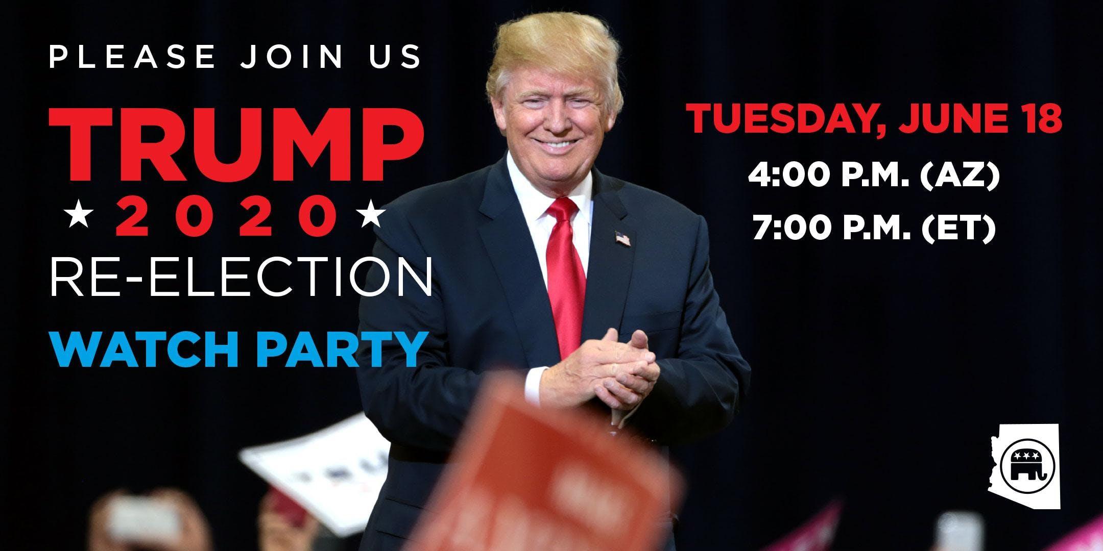 Trump 2020 Re-Election Watch Party (RPAZ Phoenix Headquarters)