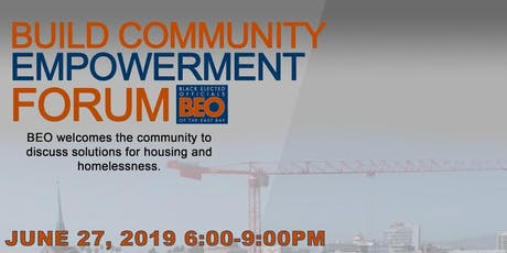 BUILD Community Forum: Addressing Housing and Homelessness tickets