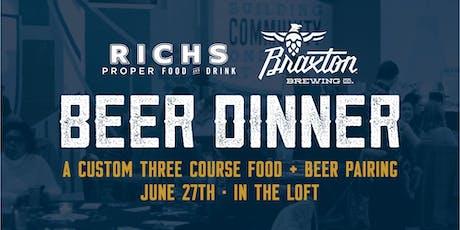 Braxton Beer Dinner with Rich's Proper tickets