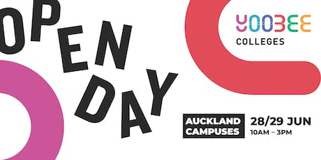 OPEN DAY | Yoobee Colleges - Queen Street Campus tickets