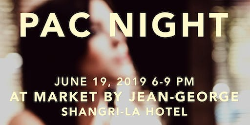PAC Night on the Patio at Shangri La's Market by Jean-George