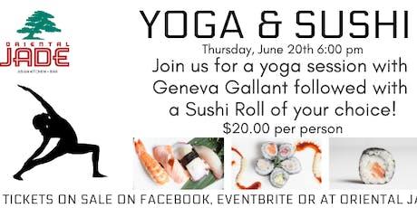 Yoga & Sushi tickets