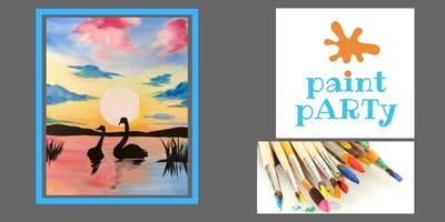 Paint'N'Sip Canvas - Swans - $35 pp