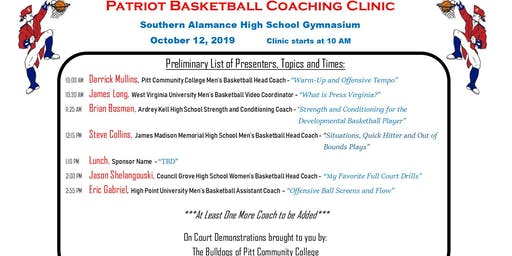 Southern Alamance Basketball Boosters Coaches Clinic