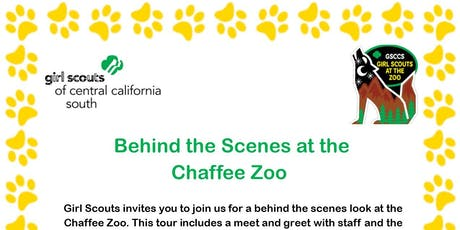Behind the Scenes at the Chaffee Zoo - Fresno  tickets