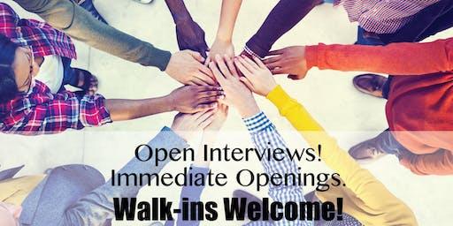 WALK-IN INTERVIEWS - Entry Level Behavior Therapist