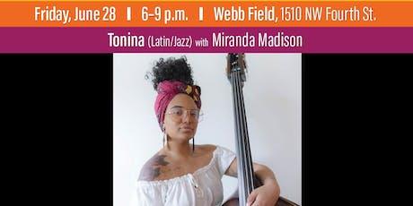Tonina with Miranda Madison at Levitt AMP Ocala tickets
