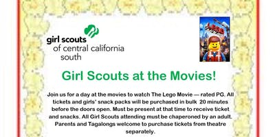 Girl Scouts at the Movies - Tulare