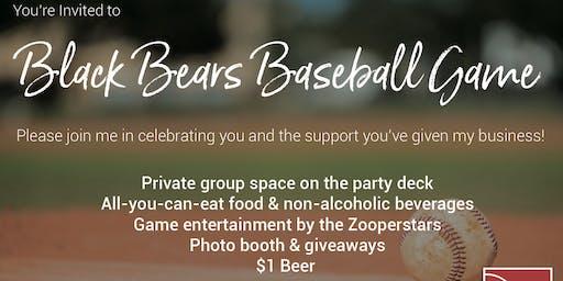 Real Living Black Bears Baseball Game