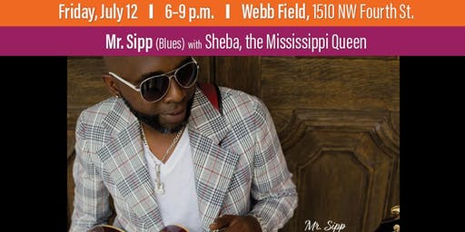 Mr. Sipp with Sheba, the Mississippi Queen at Levitt AMP Ocala