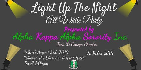 "Iota Xi Omega presents ""Light Up the Night""- 7th Annual All White Party  tickets"