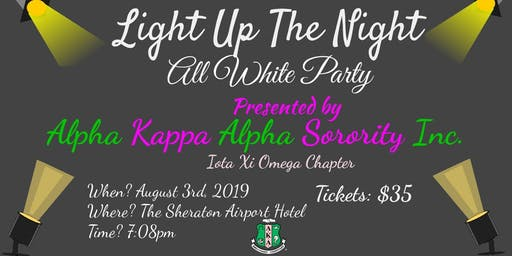 "Iota Xi Omega presents ""Light Up the Night""- 7th Annual All White Party"