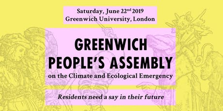 Greenwich People's Assembly on the climate and ecological emergency tickets