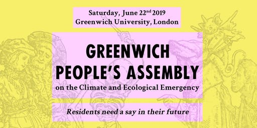 Greenwich People's Assembly on the climate and ecological emergency