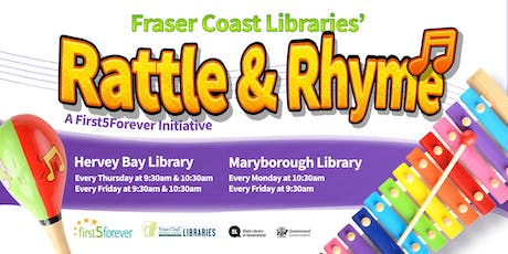 Rattle and Rhyme - Hervey Bay Library - 2 Years and Under tickets