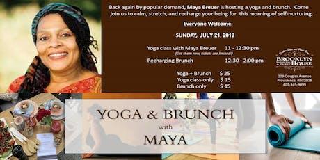 YOGA & BRUNCH with MAYA BREUER tickets