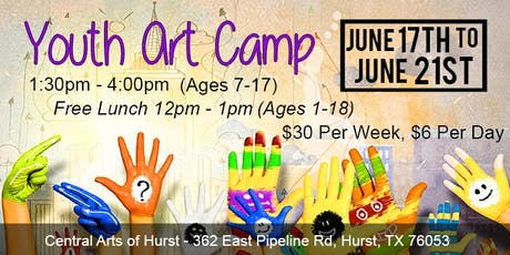 Youth Art Camp @ Central Arts of Hurst- June 17th - June 21st tickets