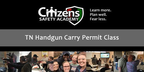 TN Handgun Carry Permit Class tickets